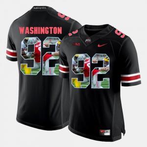 Men Pictorial Fashion Player OSU Buckeyes Adolphus Washington Jersey #92 Black 262346-975