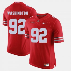#92 Alumni Football Game Ohio State Adolphus Washington Jersey Scarlet Mens Alumni 396721-734