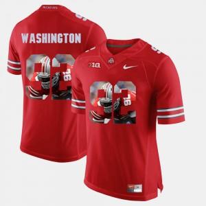 #92 NCAA OSU Adolphus Washington Jersey Pictorial Fashion Scarlet Men's 435657-766