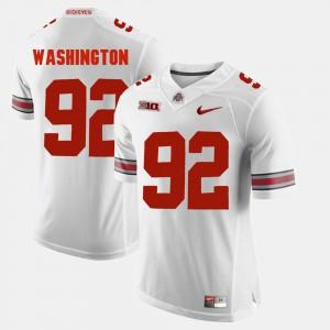 White Alumni Football Game Stitched Ohio State Adolphus Washington Jersey #92 Men 344693-288