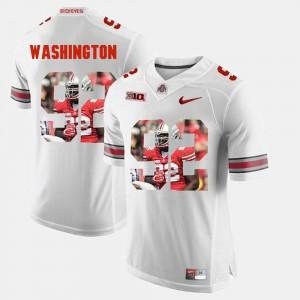 #92 Pictorial Fashion NCAA White For Men's Ohio State Buckeyes Adolphus Washington Jersey 258704-301