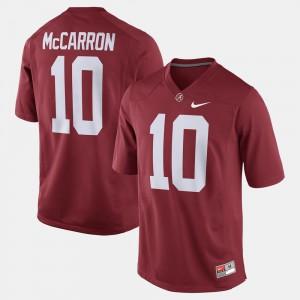 Alumni Football Game Men's #10 Stitch Crimson University of Alabama A.J. McCarron Jersey 825782-527