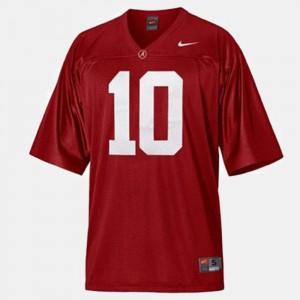 College Football Bama A.J. McCarron Jersey Kids High School #10 Red 689752-677