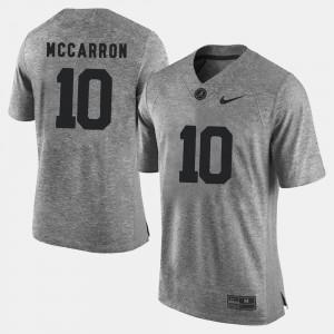 #10 Gridiron Limited NCAA Bama A.J. McCarron Jersey For Men Gray Gridiron Gray Limited 657275-267