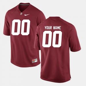 Bama Customized Jerseys University College Football #00 Crimson Men's 871400-484