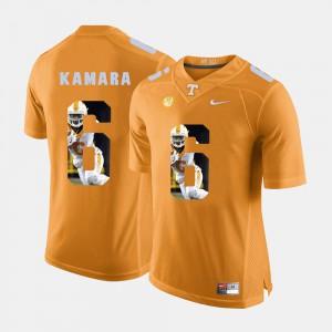 VOL Alvin Kamara Jersey Pictorial Fashion #6 Orange Alumni For Men's 717166-751