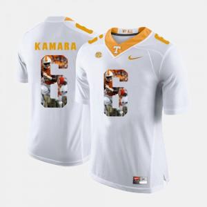 White Men's #6 Pictorial Fashion UT Volunteer Alvin Kamara Jersey Stitch 796398-512