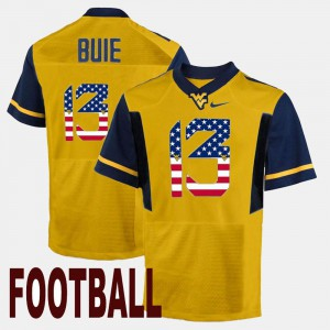 US Flag Fashion Gold WV Andrew Buie Jersey Men #13 College 617291-993