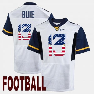 Alumni For Men's US Flag Fashion White West Virginia Andrew Buie Jersey #13 958573-164