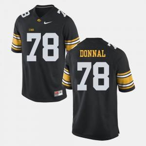 Iowa Hawkeyes Andrew Donnal Jersey For Men's Alumni #78 Black Alumni Football Game 444131-416