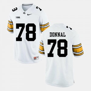 Alumni Football Game Official White University of Iowa Andrew Donnal Jersey #78 Men's 643809-809
