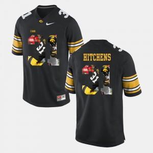 University of Iowa Anthony Hitchens Jersey Men's Pictorial Fashion Black High School #31 210412-278