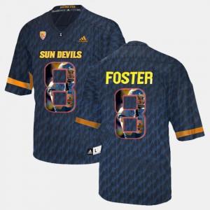 Stitched Sun Devils D.J. Foster Jersey #8 Men's Black Player Pictorial 710901-968