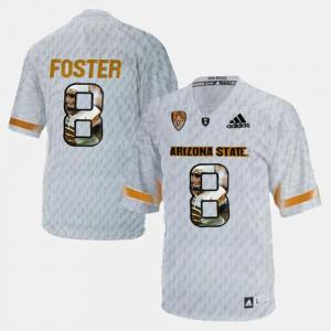 #8 Player Pictorial NCAA White Arizona State Sun Devils D.J. Foster Jersey Men 286500-868