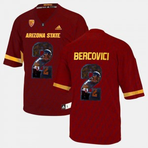 Red Arizona State University Mike Bercovici Jersey High School For Men Player Pictorial #2 329494-720
