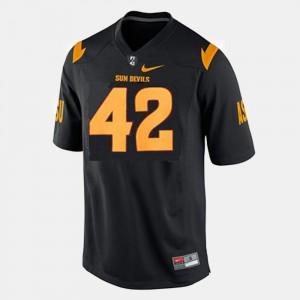 Men College Football Official Black Arizona State Pat Tillman Jersey #42 586297-115