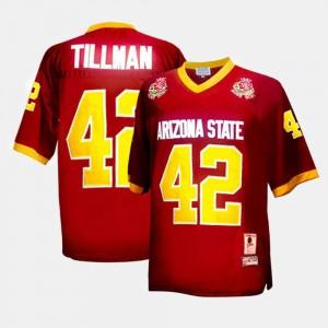For Men's #42 Red Player ASU Pat Tillman Jersey College Football 785845-597