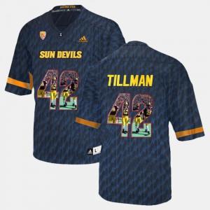#42 Men College Black Player Pictorial Arizona State Pat Tillman Jersey 966106-246