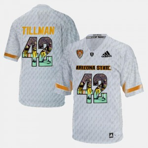 Stitched Sun Devils Pat Tillman Jersey #42 Player Pictorial White For Men's 663738-618
