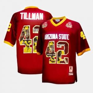 Official Maroon #42 Men's Throwback ASU Pat Tillman Jersey 338840-647