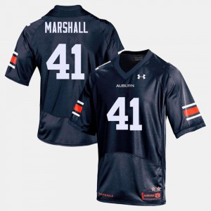 #41 For Men's College Football Embroidery Tigers Aidan Marshall Jersey Navy 394803-154