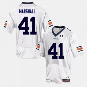For Men's White College Football Player #41 Auburn University Aidan Marshall Jersey 997813-496