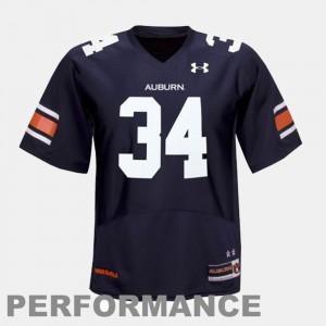For Men's Auburn University Bo Jackson Jersey College Football #34 Blue Stitch 297649-361