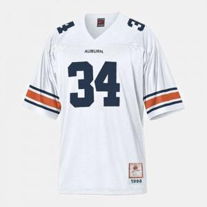 Auburn Tigers Bo Jackson Jersey #34 Stitch College Football For Kids White 414840-342