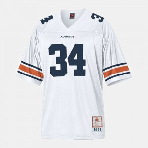 White Auburn Tigers Bo Jackson Jersey #34 Official For Men's College Football 941359-906