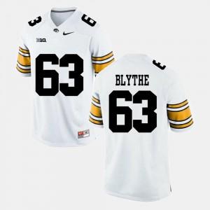 #63 Stitch University of Iowa Austin Blythe Jersey Alumni Football Game White Mens 283125-406