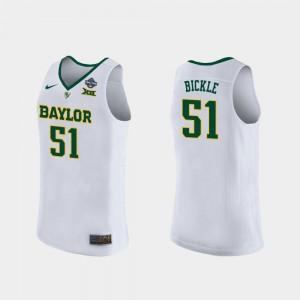 #51 White Womens 2019 NCAA Women's Basketball Champions Baylor Caitlyn Bickle Jersey Alumni 256095-302
