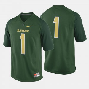 Men's College College Football Green #1 Baylor Jersey 450678-117
