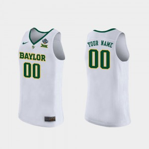 Bears Custom Jerseys #00 White Women Alumni 2019 NCAA Women's Basketball Champions 288831-840