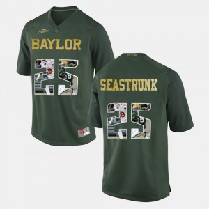 Player Mens Baylor University Lache Seastrunk Jersey Player Pictorial #25 Green 136733-764