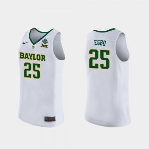 Women #25 White Player 2019 NCAA Women's Basketball Champions Baylor Queen Egbo Jersey 191355-748