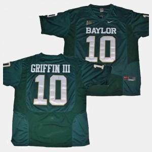 #10 For Men's College Football Green Baylor Robert Griffin III Jersey Alumni 603527-839