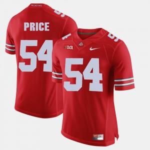 Mens Alumni Football Game #54 Buckeyes Billy Price Jersey High School Scarlet 745095-458