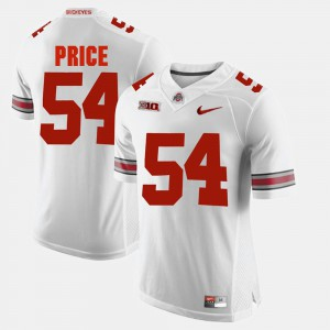 Official White #54 Mens Alumni Football Game Ohio State Buckeye Billy Price Jersey 451830-138