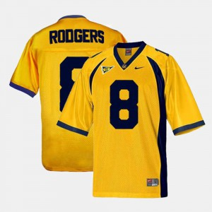 Kids College Football Stitch Cal Bears Aaron Rodgers Jersey #8 Gold 480508-817