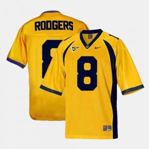 College Football Alumni University of California Aaron Rodgers Jersey For Men's #8 Gold 895283-574