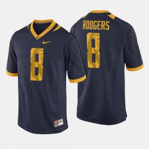 UC Berkeley Aaron Rodgers Jersey #8 Navy For Men's College Football College 360634-309