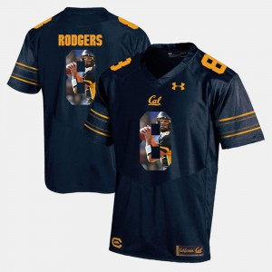 Cal Aaron Rodgers Jersey Player Pictorial Navy Blue #8 Men's Stitched 796843-223