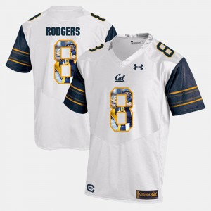 For Men #8 White High School Player Pictorial Bears Aaron Rodgers Jersey 984013-564