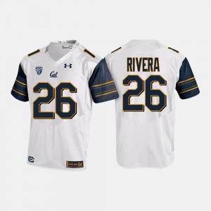 UC Berkeley Bug Rivera Jersey White College Football Mens #26 College 441308-649