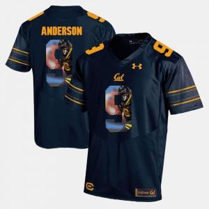 Mens UC Berkeley C.J. Anderson Jersey Player Pictorial #9 Navy Blue NCAA 444189-736