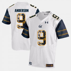 White Official #9 Men Player Pictorial California Berkeley C.J. Anderson Jersey 733561-920