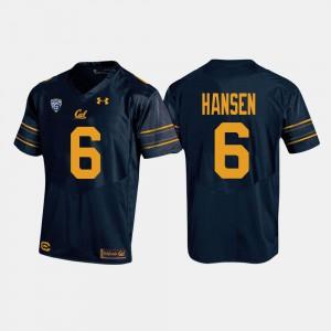 #6 University College Football Navy Cal Golden Bears CHAD HANSEN Jersey For Men 380984-630