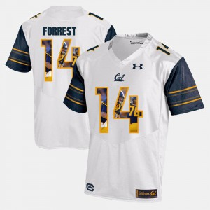 #14 White Player Pictorial Alumni Cal Golden Bears Chase Forrest Jersey For Men's 388568-742