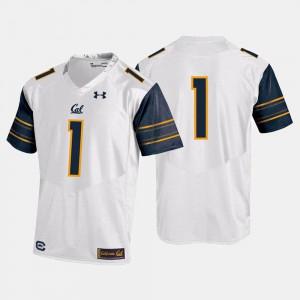College Football Berkeley Jersey NCAA White #1 Men 339550-150