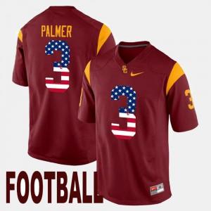 #3 College US Flag Fashion Maroon USC Carson Palmer Jersey Men 752681-324